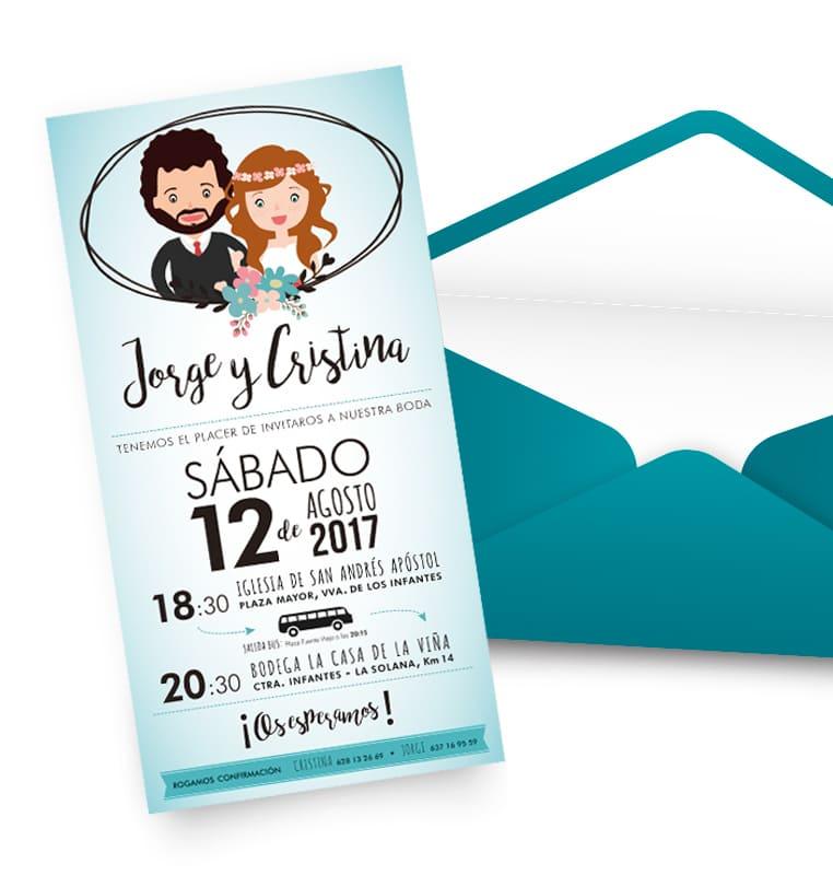 Zona kamaleon - Enlace Jorge y Cristina invitacion