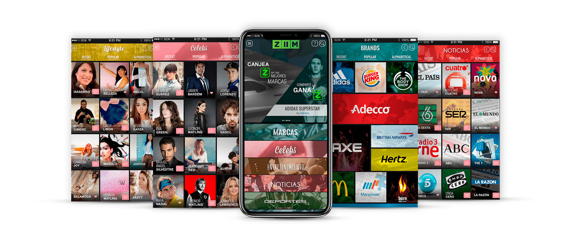 Zona kamaleon - ZIIM diseño app