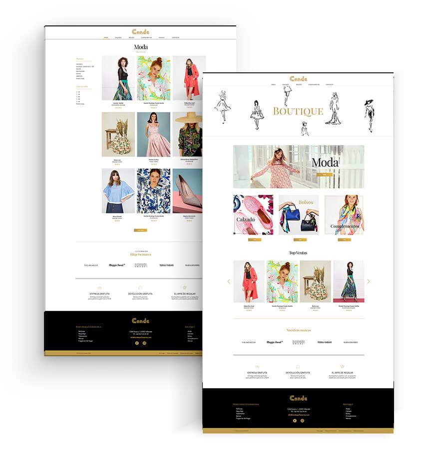 Zona kamaleon - Diseño Web Boutique Cande