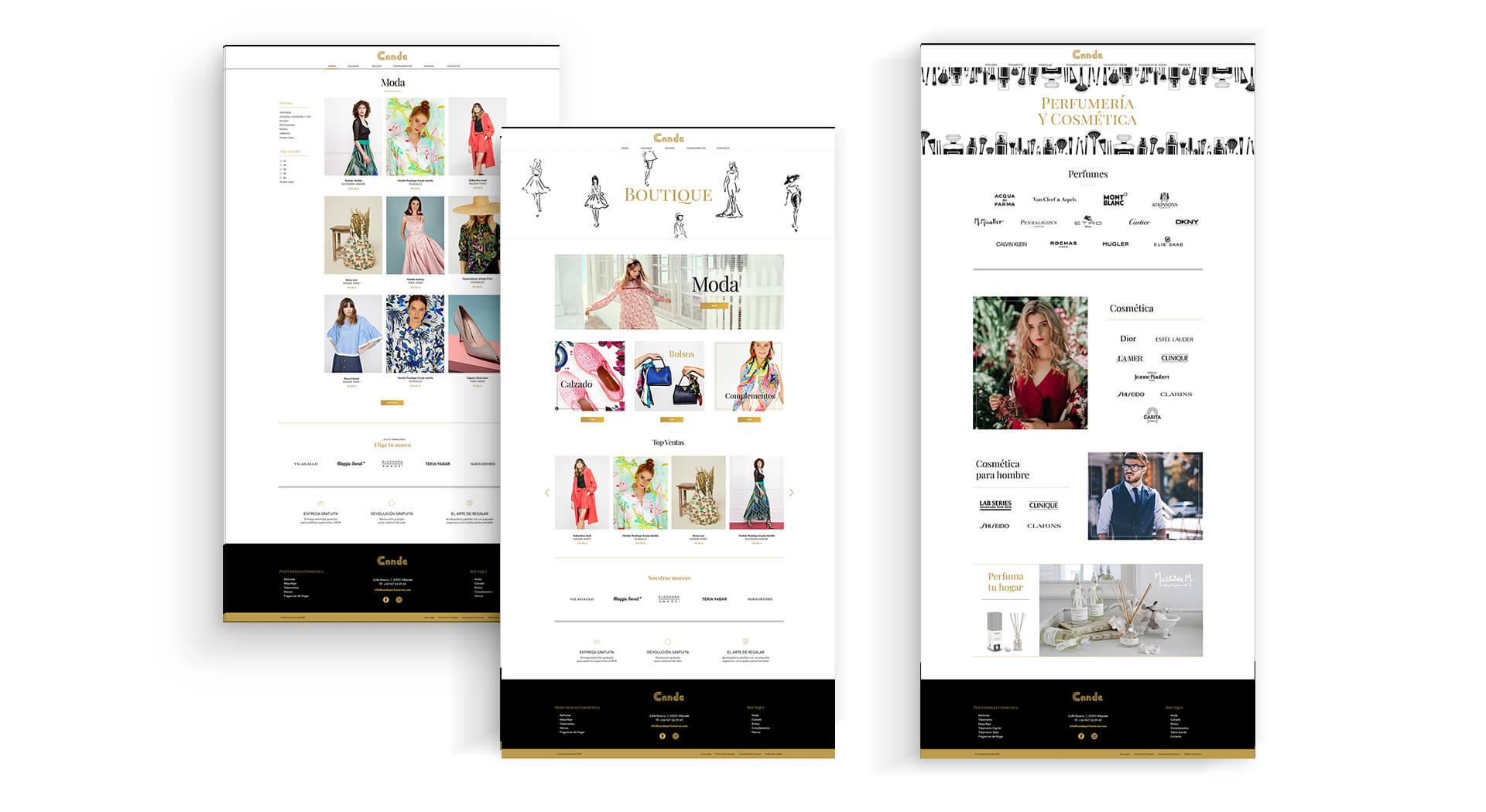 Zona kamaleon - Diseño Web Boutique y Perfumeria Cande