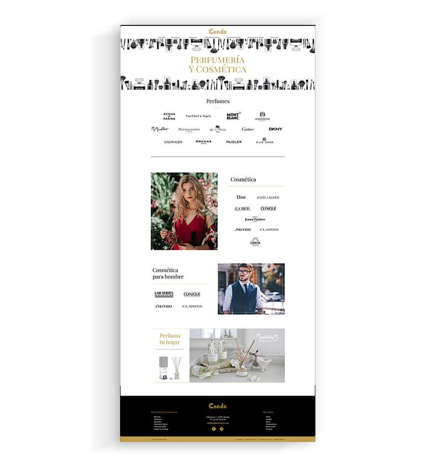 Zona kamaleon - Diseño Web Perfumeria y cosmetica Cande